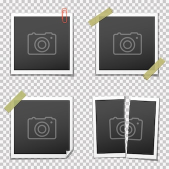 Retro fotorahmen auf transparent