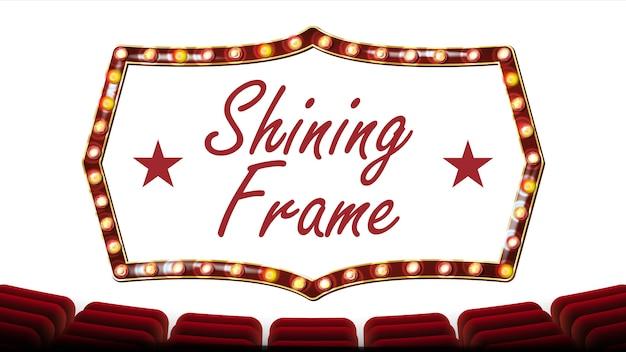 Retro frame glühbirnen