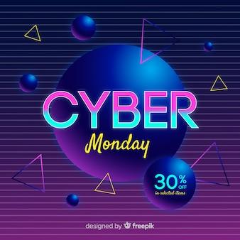 Retro futuristische cyber montag hintergrund