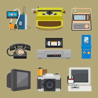Retro gadgets symbole