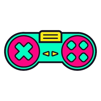Retro gamepad 80er und 90er jahre controller vektor-illustration