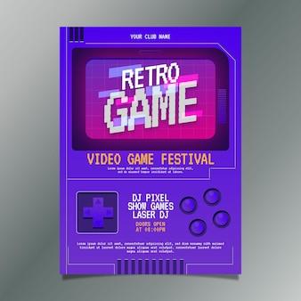 Retro gaming poster vorlage illustriert
