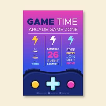 Retro gaming poster vorlage
