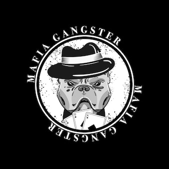 Retro gangster charakter thema