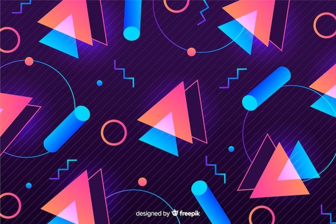 Retro geometrische modelle hintergrund