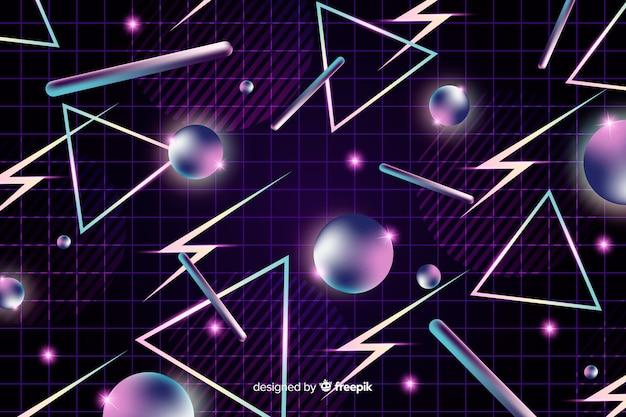 Retro geometrischen dunklen hintergrund