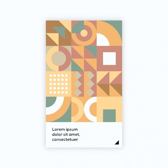 Retro geometrisches cover design set premium