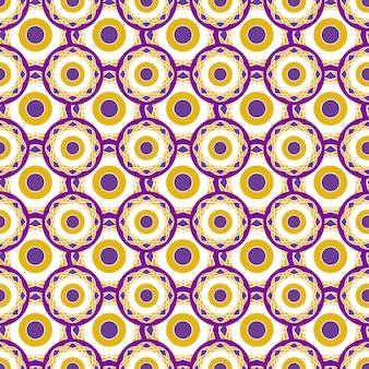 Retro geometrisches muster mit kreispunkten. nahtlose abstrakte vektorbeschaffenheit.