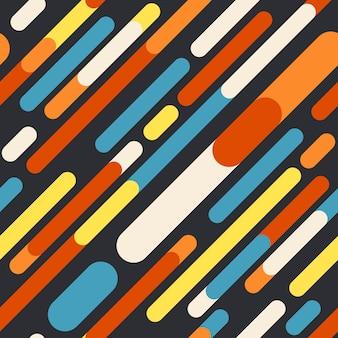 Retro geometrisches nahtloses muster mit abgerundeten linien.