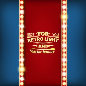 Retro glühbirne sprechblase banner.