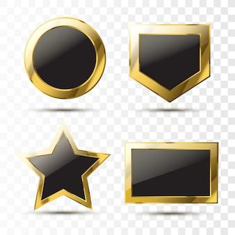 Retro goldrahmen mit schwarz und platz für ihren text.