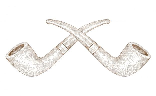 Retro gravur illustration movember zigarettenpfeife