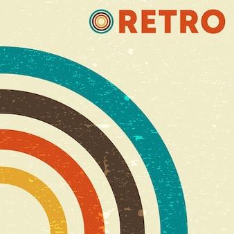 Retro-grunge-textur-hintergrund mit vintage-farbigen linien. vektor-illustration.