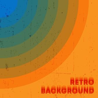 Retro grunge textur hintergrund mit vintage farbigen streifen. vektorillustration