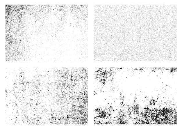 Retro-grunge-texturen sammlung weißer grunge distressed textur-set