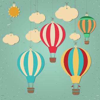 Retro heißluftballon