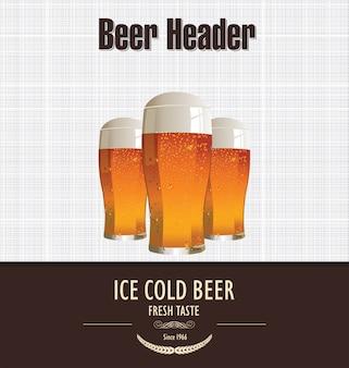 Retro hintergrund bier