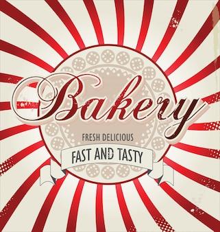 Retro hintergrund der bäckerei