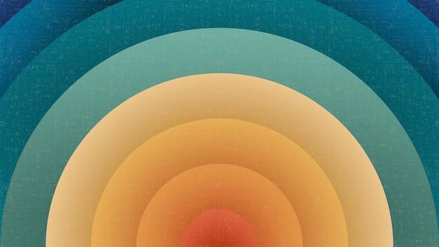 Retro-hintergrund der radialen sonne