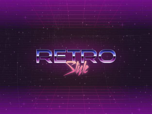 Retro hintergrund des bearbeitbaren text-80s