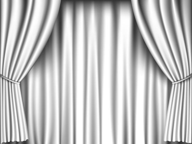 Retro-hintergrund des weißen vorhangs