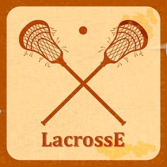 Retro hintergrund lacrosse.