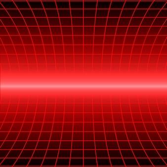 Retro hintergrund mit perspektive raster. vektor-illustration