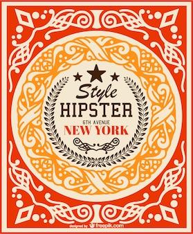 Retro-hipster-vektor-hintergrund