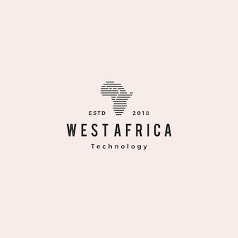 Retro ikone der retro- ikone afrikas technologie digitale logo hipster