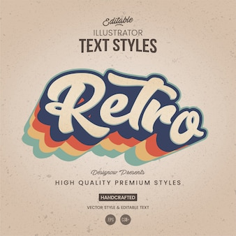 Retro illustrator-textstil