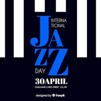 Retro jazzflieger / -plakat des internationalen jazztages