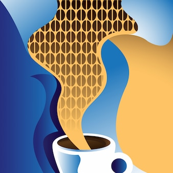 Retro kaffee abbildung