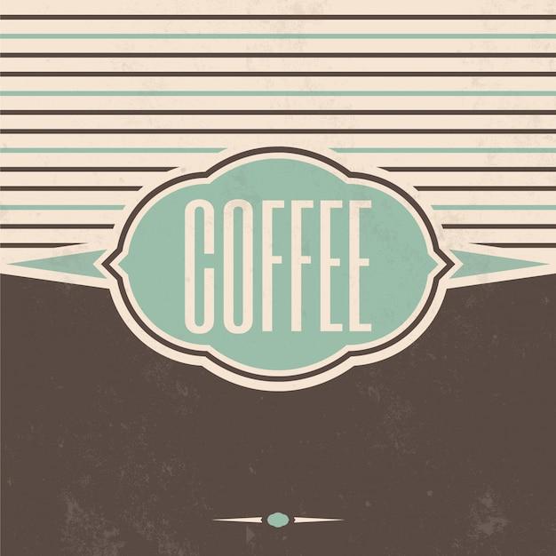 Retro kaffee design