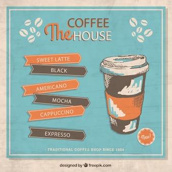 Retro kaffee-plakat
