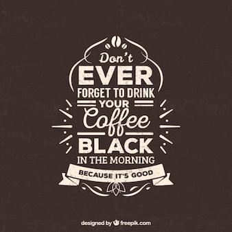 Retro kaffee-schriftzug