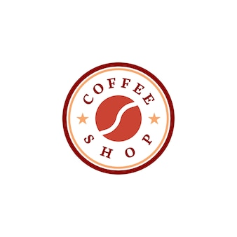 Retro- kaffeestube-logovektor