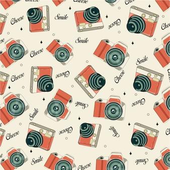 Retro kamera nahtlose muster