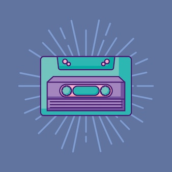 Retro kassettensymbol