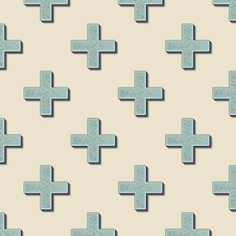 Retro-kreuze-muster. abstrakter geometrischer hintergrund im stil der 80er, 90er jahre. geometrische einfache illustration