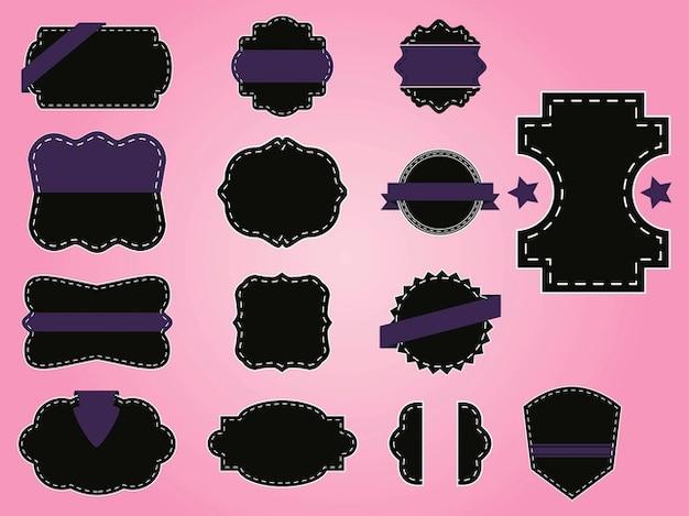 Retro label designs dekorationen