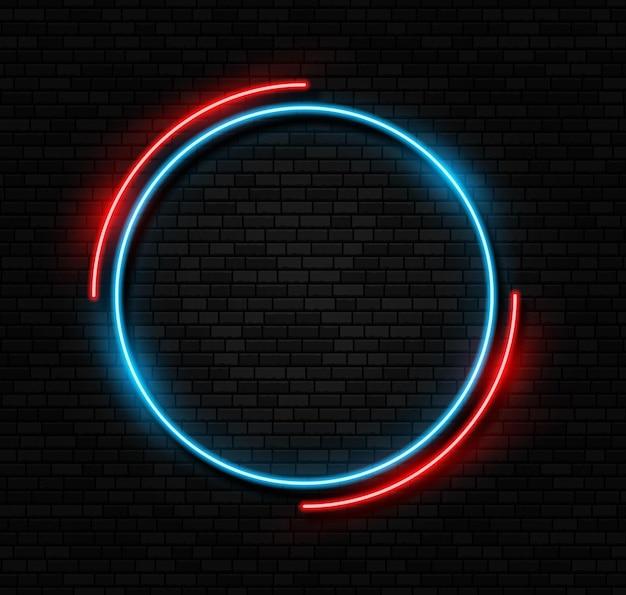 Retro leuchtreklame led oder halogenlampe rand