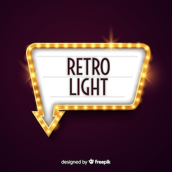 Retro licht billboard