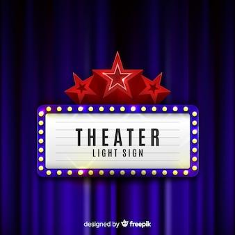 Retro Licht Theater Zeichen