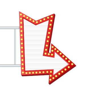 Retro-lightbox-reklametafel-vintage-rahmen. leuchtkasten mit anpassbarem design. klassisches banner für ihre projekte oder werbung.