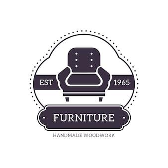 Retro-logo für möbel