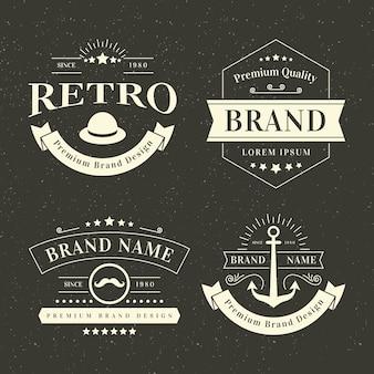 Retro logo sammlung vorlage thema