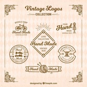 Retro logos für das handwerk
