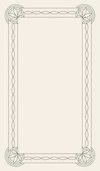 Retro luxuseinladung, königliches zertifikat