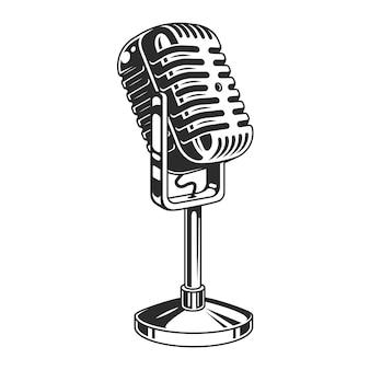 Retro mikrofonsymbol