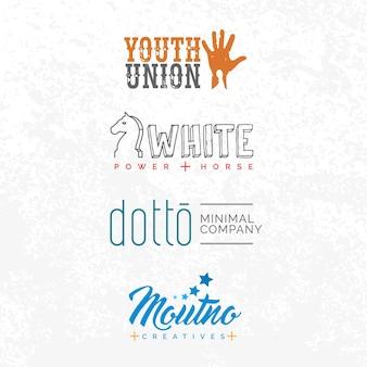 Retro-minimale logo-designs